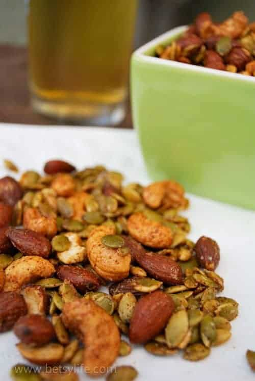 Sweet and Spicy nut and seed Mix