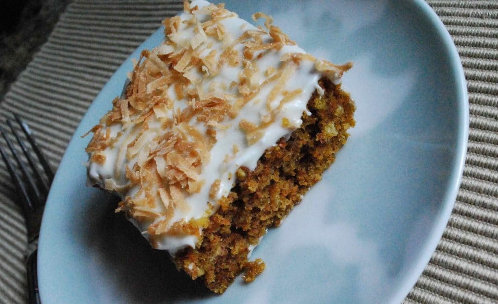 Carrot Cake with Toasted Coconut Frosting | Betsylife.com
