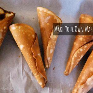 Almost waffle cones