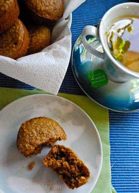 Whole Wheat, Oatmeal and Raisin Muffins   Betsylife.com