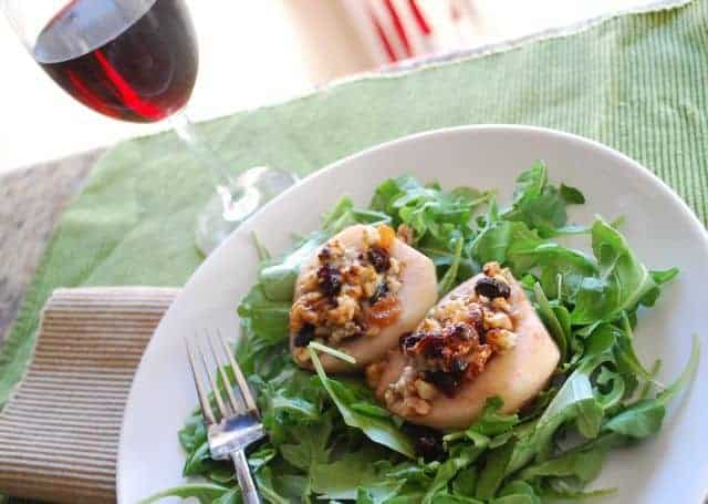 Roasted Pears with Bleu Cheese