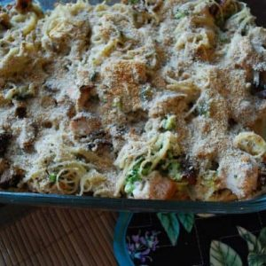 Dinner tonight: More leftovers. Specifically, Turkey Tetrazzini