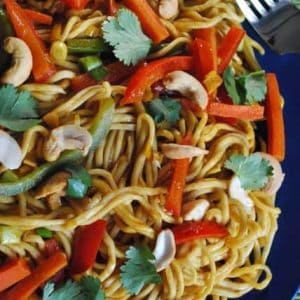 Vegetarian Curry with Homemade noodles