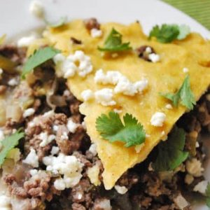 Dinner tonight: Green chili tamale pie