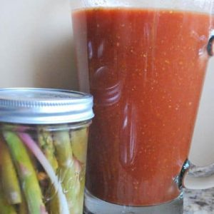 Seasonal Potluck: Pickled Asparagus and Homemade Bloody Mary Mix