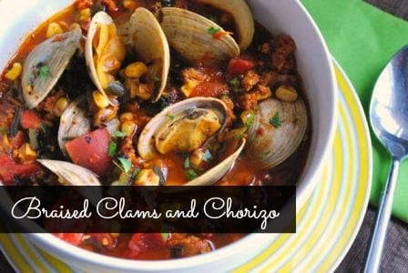 Grill-Braised Clams and Chorizo
