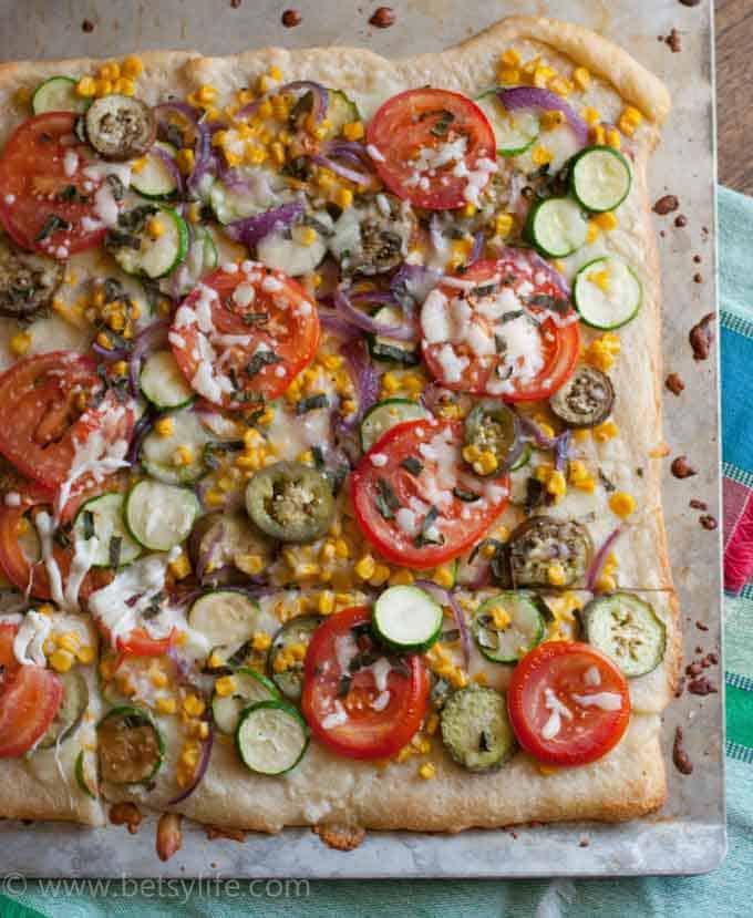 Farmers Market Vegetable Pizza Recipe