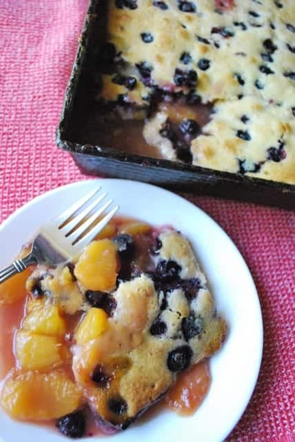 Easy Blueberry-Peach Cobbler Recipe