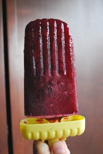 Blueberry Champagne Popsicles