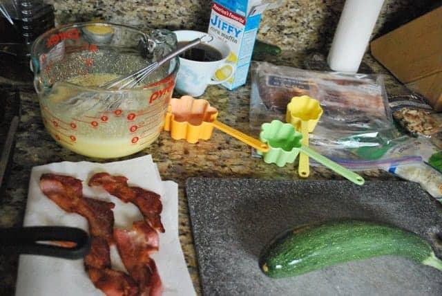 Zucchini and Bacon Quiche