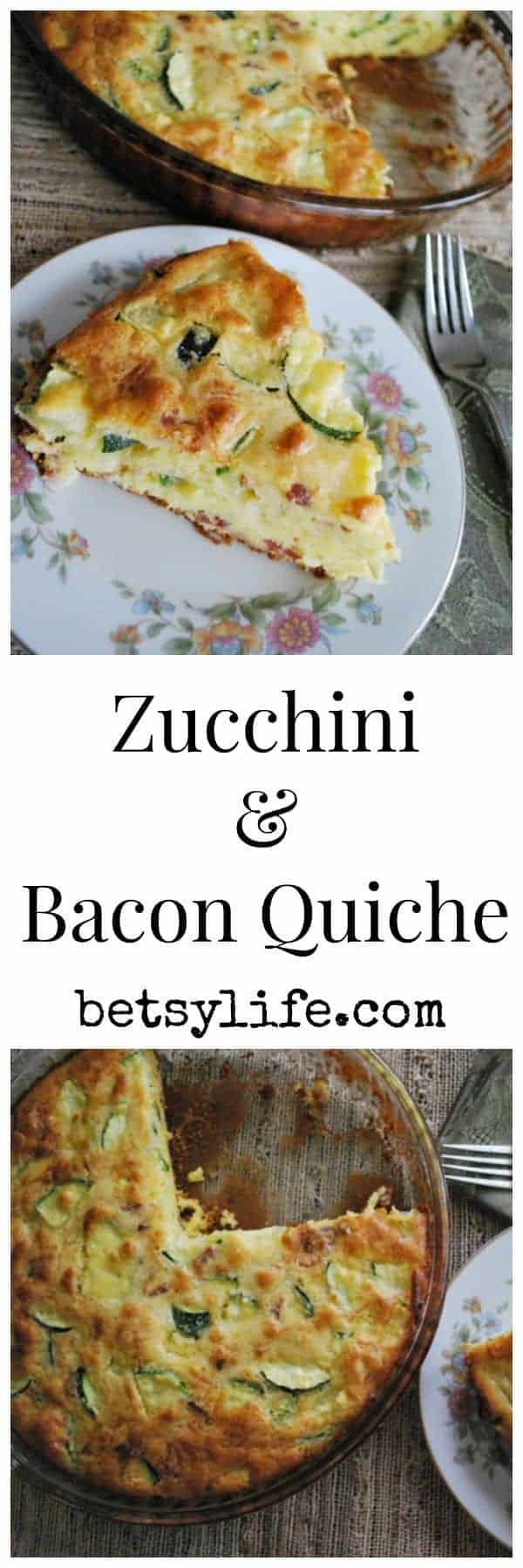 Zucchini, Bacon, And Gruyere Quiche Recipe — Dishmaps