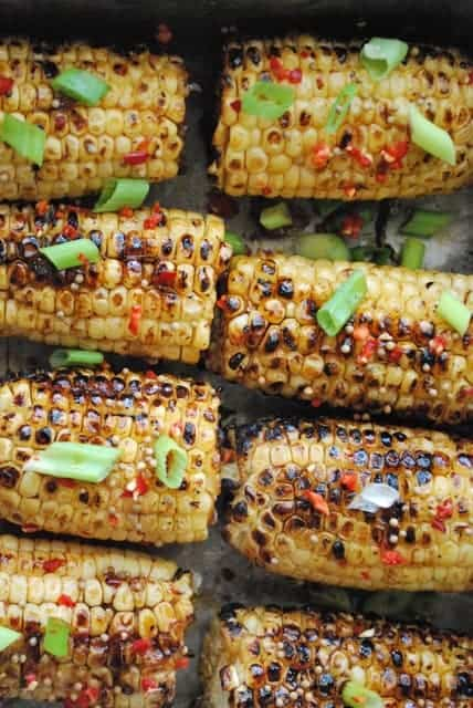 8 grilled corn on the cob