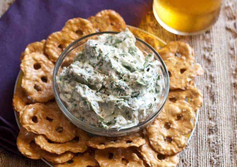 Easy and Light Feta and Spinach Dip