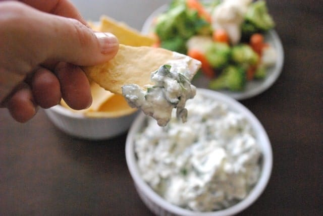Light Feta and Spinach Dip