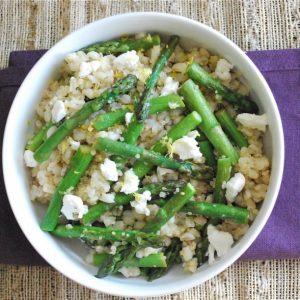 Seasonal Potluck: Lemon, Grain and Asparagus Salad