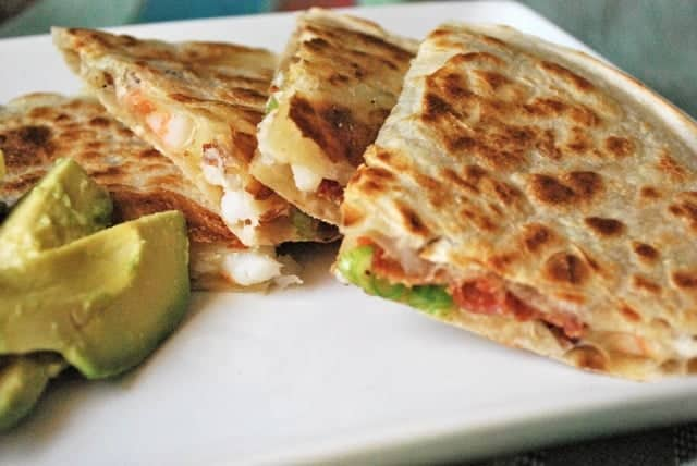 Football Food: Shrimp and Bacon Quesadilla | BetsyLife