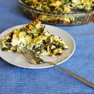 Artichoke, Kale and Ricotta Pie