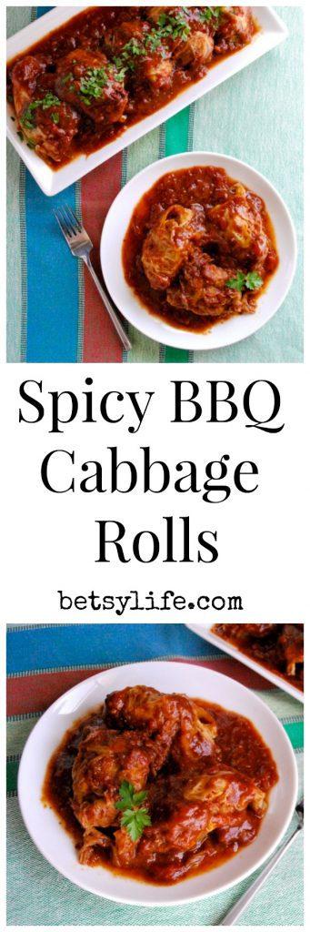 Spicy BBQ Cabbage Rolls Recipe