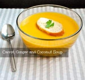 Carrot, Ginger, Coconut Soup