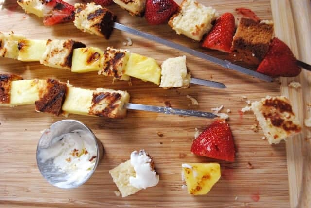 Make dessert on the grill with this grilled shortcake skewers recipe