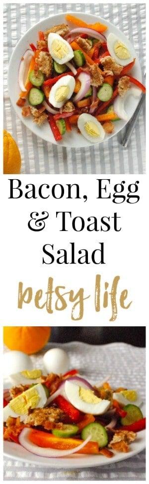 Bacon, Egg & Toast Salad