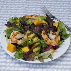Grilled Avocado and Shrimp Salad Recipe