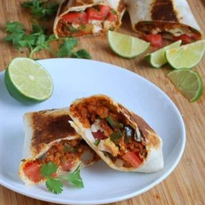 Potato, Chorizo, and Green Chili Burritos