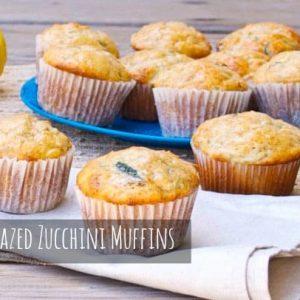 Lemon Glazed Zucchini Muffins