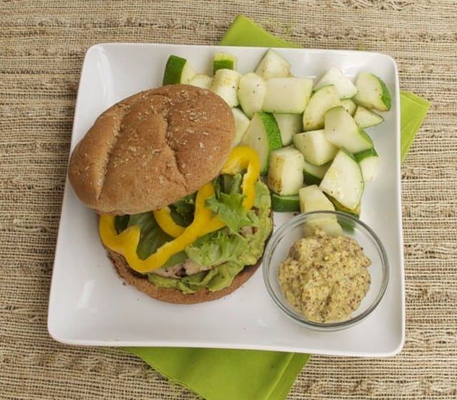 Mustard Turkey Burgers recipe from Whole Living