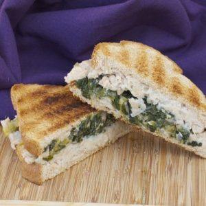 Braised Greens and Cannellini Bean Panini