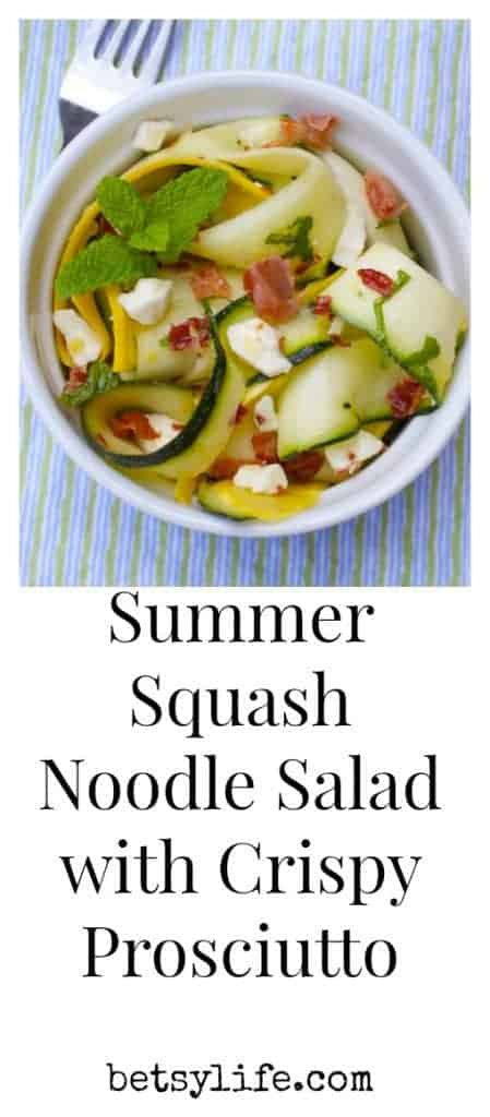 Summer Squash Salad with Crispy Prosciutto