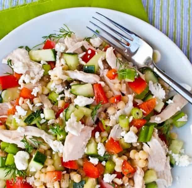 Lemony Pasta Salad with Chicken
