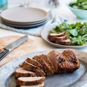 Simple Honey BBQ Pork Tenderloin