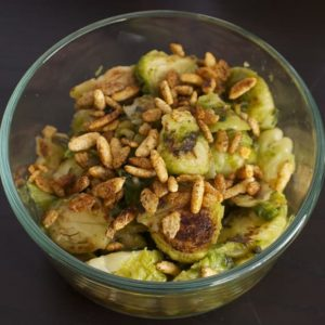 Spicy Brussels Sprouts with Mint