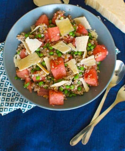 Summer Pea and Watermelon Salad Recipe