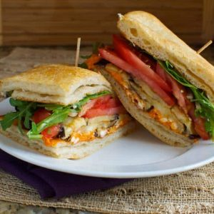 Eggplant Flatbread Sandwich: Two Meals for One
