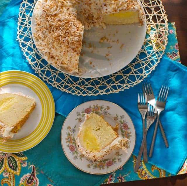 Pina Colada Bundt Cake