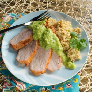 Spice Rubbed Pork Tenderloin with Salsa Verde