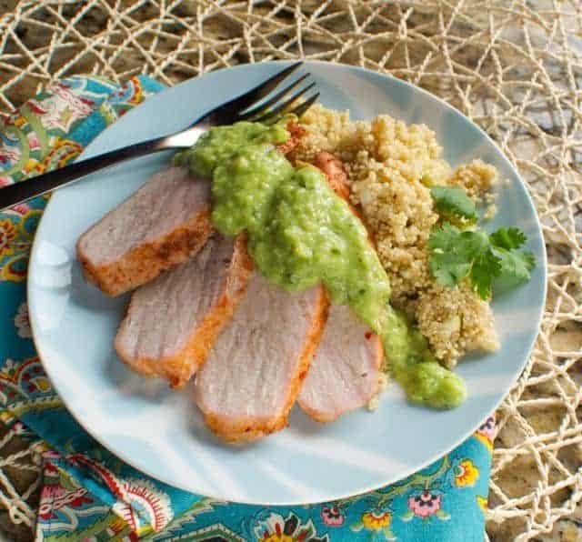 Spice Rubbed Pork Tenderloin with Salsa Verde   BetsyLife