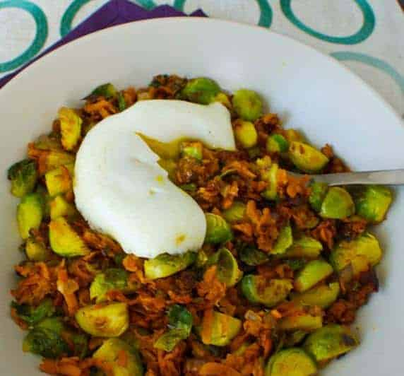 Brussels Sprout and Sweet Potato Hash Recipe
