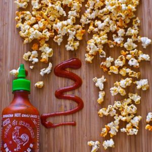 Sriracha Popcorn and a Giveaway!!