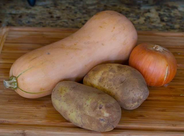 Butternut Squash and Potato Latkes