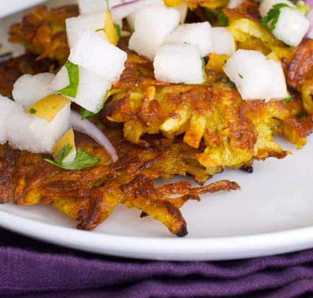 Butternut Squash and Potato Latkes