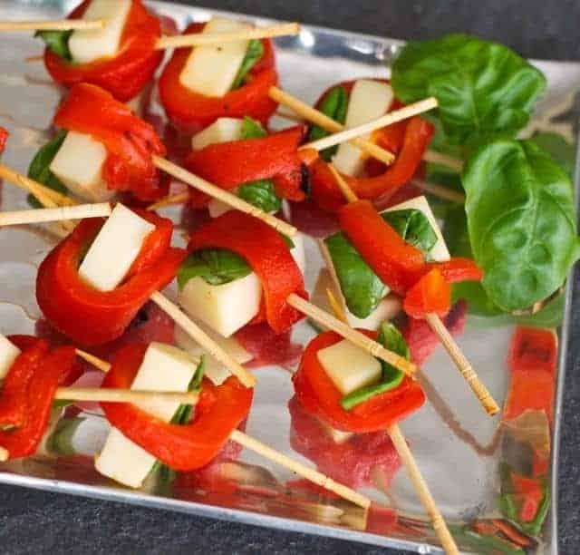 Simple appetizer skewers