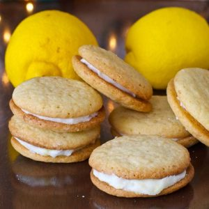 Food Blogger Cookie Swap: Lemon Creme Sandwich Cookies