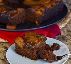 Gingerbread Pineapple Upside-Down Cake