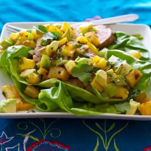 Pork, Pineapple and Anaheim Chili Salad with Avocado
