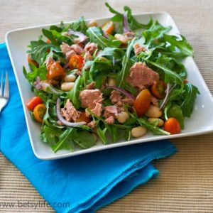 Arugula Salad with Tuna and Beans