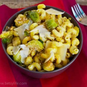 Vegetarian Pasta With Brussels Sprouts