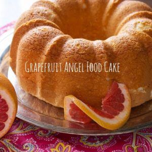 Grapefruit Angel Food Cake